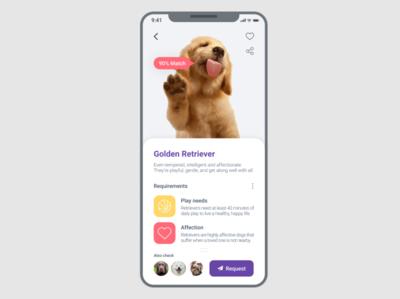 Pet Request App for #DailyUI 010 Challenge