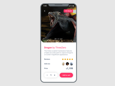 Action Figure eCommerce App for #DailyUI Challenge