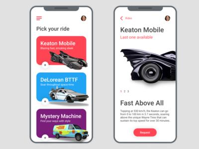 Hero Ride App for #DailyUI Challenge [15]