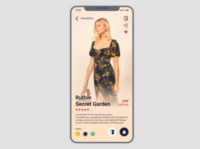 Fashion App for #DailyUI Challenge [16]