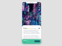 Travel App for #DailyUI Challenge [20]