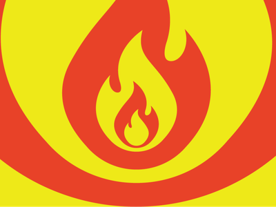 Fitted Flames pattern flame flames fire branding design graphic design cute adobe illustrator 2d illustration