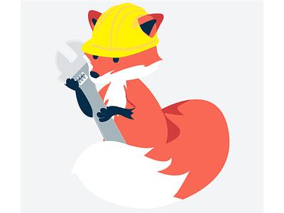 Construction Fox (maintenance page illustration) fox patreon