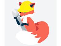 Construction Fox (maintenance page illustration)