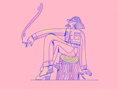 Spring textures ipadpro procreate vector scene female texture character illustrator illustration