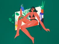 we're all devils, mary textures ipadpro procreate brush female scene texture character illustrator illustration