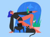 Home textures ipadpro procreate brush female scene texture character illustrator illustration