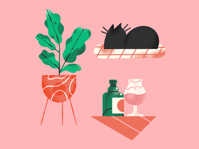 indoor vibes 🍂 girl textures ipadpro procreate brush female scene texture character illustration