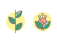 Floral icons