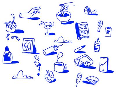 Doodles ✏️ astropad procreate ipad ipadpro brush texture female illustration character vector illustrator scene