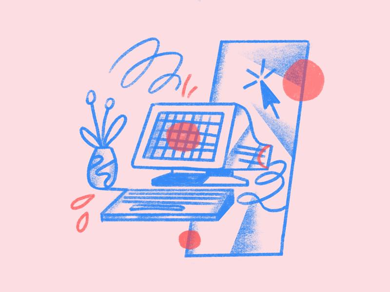 Simpler scene sceneastropad illustrator vector character illustration female texture brush ipadpro procreate astropad
