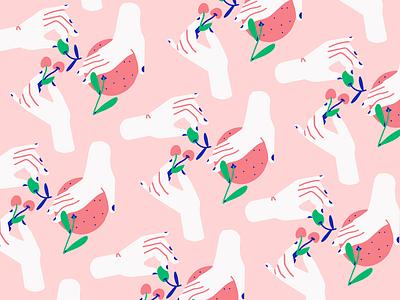 Things I ate in Sicily astropad vector brush texture female illustration character illustrator scene