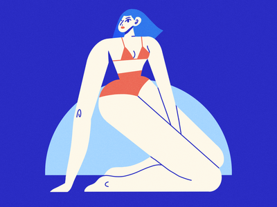 summer girl textures astropad brush procreate female scene texture character illustrator illustration
