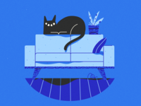 huge cat smol couch