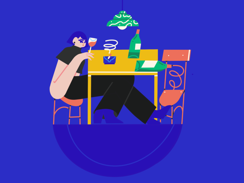 blue product tech procreate female brush vector scene texture character illustrator illustration