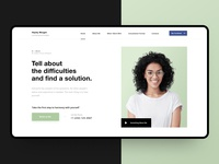 Homepage — Concept (Dribbble Invite)