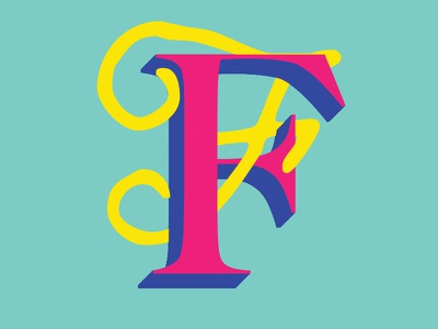 F is Fun contrast photoshop illustrator letterf f brightcolor typography