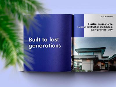 EcoSteel Product Catalog design happy buro editorial product catalog