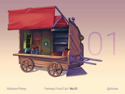 Fantasy Food Cart Concept 01