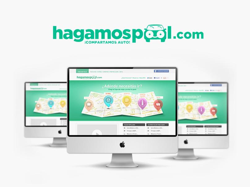 Hagamos Pool car share icon design web flat ux usability app ui