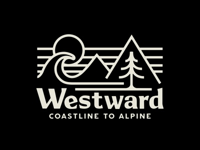 Westward Provisions Co. retro camp badge apparel lettering outdoor illustration vintage typography branding