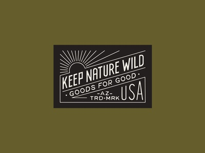 Keep Nature Wild hat southwestern minimal patch badge camp sunset usa lettering typography sun outdoor logo apparel headwear woven label branding