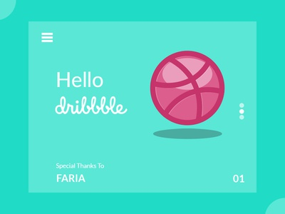 Hello Dribbble! debut hello dribbble thank you first shot dribbble invitation dribbble