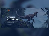 Daily UI #003 ( Header Exploration for Jurassic Park)
