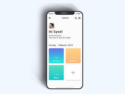 Daily UI #008 (to-do list Apps design) android exploration iosdesign todolist iphone gradient ux ui minimal appsdesign dailyui