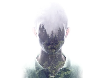 Speak for the trees personal double exposure direction art