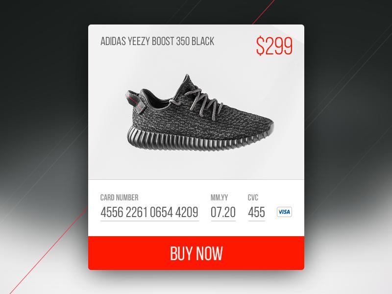 014 - BUY NOW material sneakers kanye visa card adidas yeezy buy now credit card cc