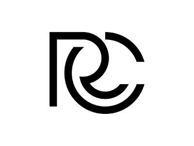 RC flat design branding initial logoforsale illustration design brand identity simple logo minimalist logo icon rc mark rc logo lettermark initial logo monogram logo logodesigns logo