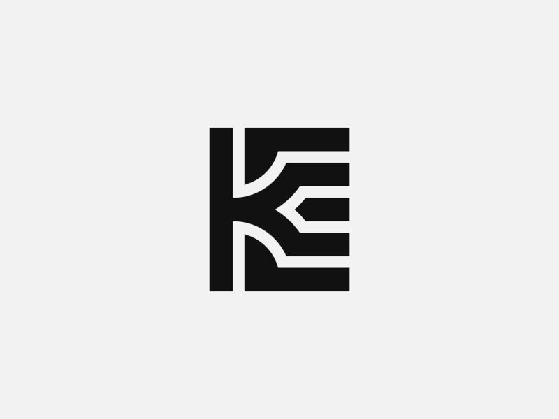 KE Logo minimal logo simple logo brandmark monogram logo lettermark logo