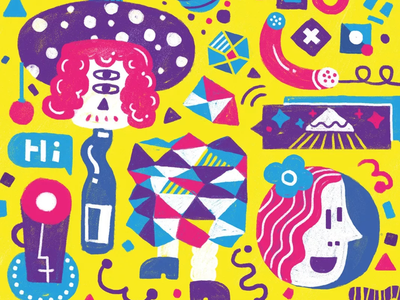 Dance🕺💃🏻🎉 dance yellow beer girl illustration doodle design art