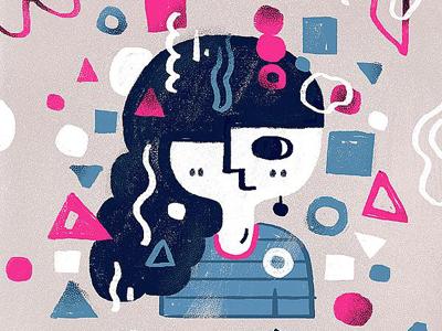 Gril artwork illustrator japan drawing painting design girl illustration wacom sketch doodle