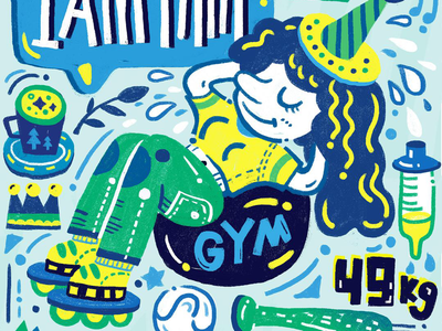 Good Health drawing painting thin art design illustration gym health illustrator wacom sketch doodle