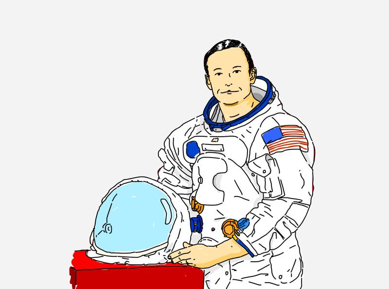 Neil astronauts spaceman armstrong space nasa art vector illustration artwork graphicdesign design
