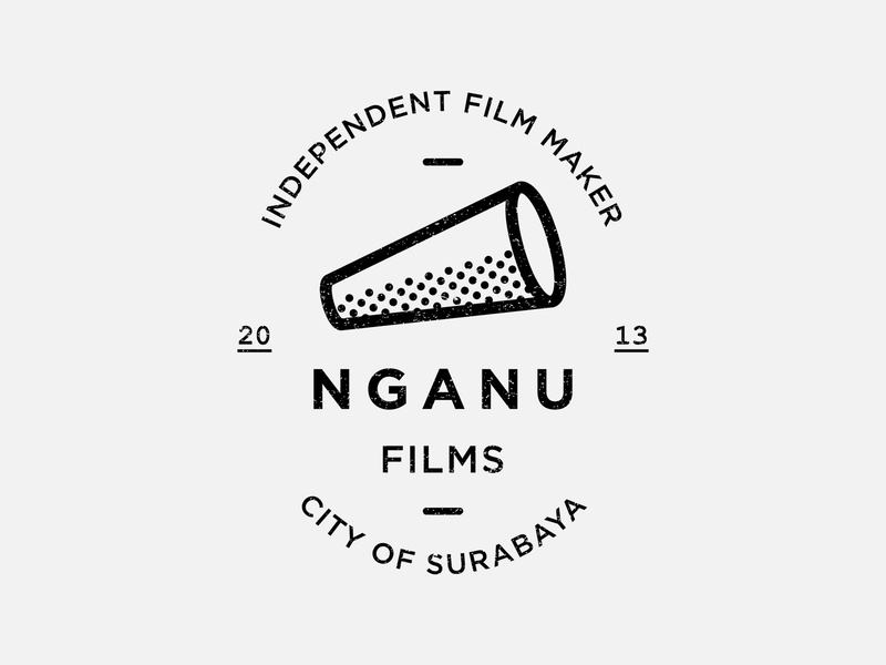 Nganu Films film badge logo badge logodesign logo symbol art vector illustration minimalist artwork graphicdesign design
