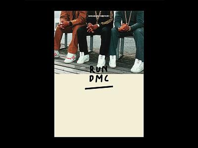 RUN DMC kicks sneaker poster run dmc layout typography artdirection graphicdesign design