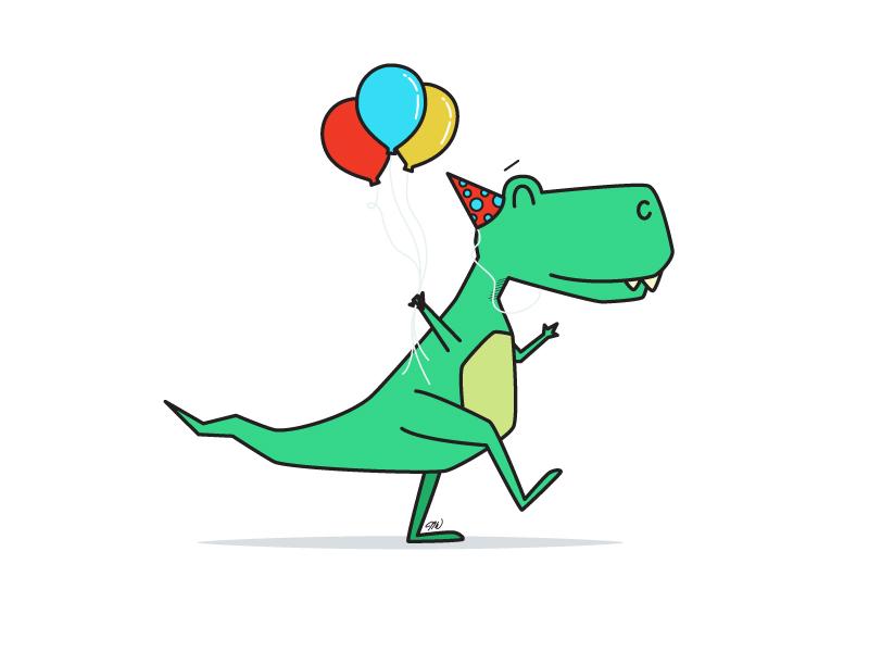 birthday dinosaur Birthday Dino by Jake Williams   Dribbble   Dribbble birthday dinosaur