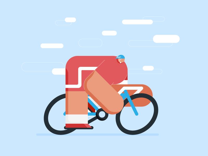 Bigbuds cycling dribbble