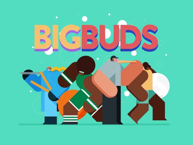 Bigbuds title dribbble