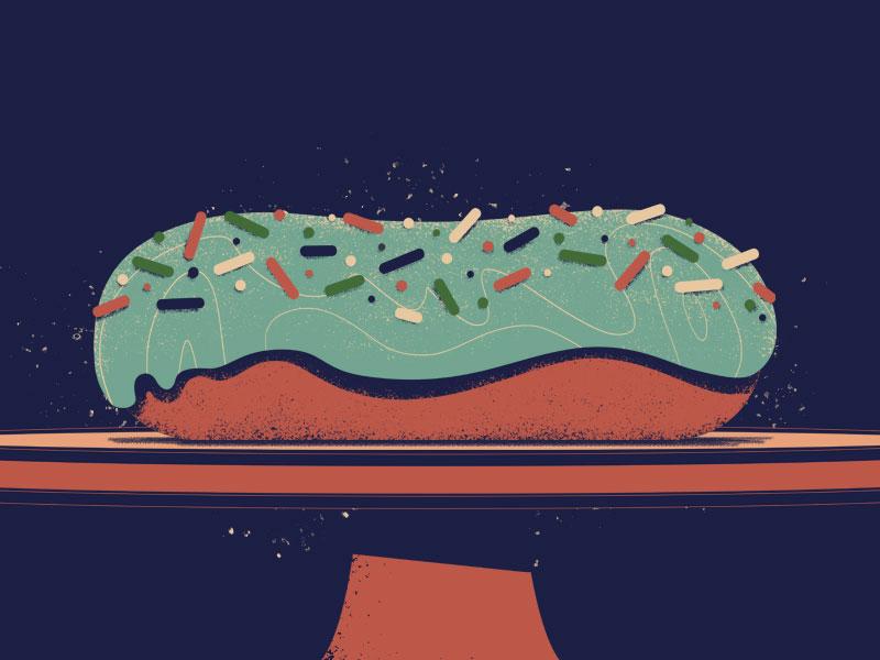Doughnut yum pastry breakfast texture styleframe illo illustration donut doughnut