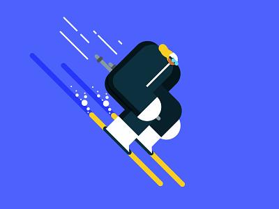 Big Buds - Ski downhill ski sports illo design illustration character