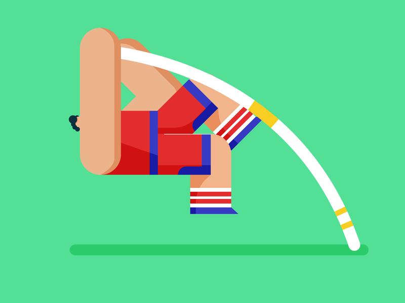 Big Buds - Pole Vault illo game pole vault sports design illustration character