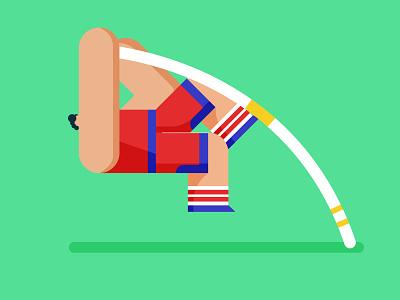 Big Time Sports - Pole Vault illo game pole vault sports design illustration character