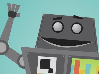 Robot robot illustration character robo metal clunk toon
