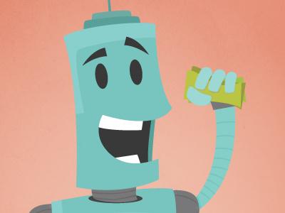 More Robots robot illustration character robo metal clunk toon