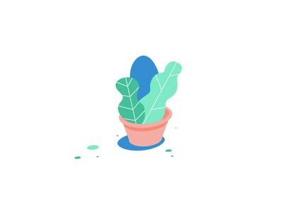Lil' Plants design illustration pot small smol plant