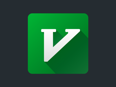 Vim Replacement Icon icon vim green